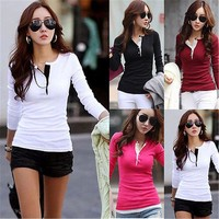 Black Red White  Blouse Women Autumn 2017 Long Sleeve Ladies Office Shirts Korean Fashion Casual Slim Women Tops