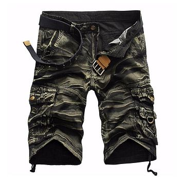 Shorts Man 2017 Brand Fashion Mens Bermuda  Short   Men Homme   Cargo Shorts