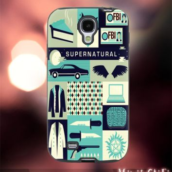 MC1111Y,2,Supernatural,Collage,Classic -Accessories case cellphone-Design for Samsung Galaxy S5 - Black case - Material Soft Rubber