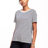 Boyfriend Slub-Knit Pocket Tee for Women | Old Navy