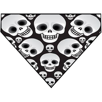 Halloween Over the Collar Dog Bandana - Skull Heads