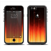 The Fiery Glowing Gradient Stripes Apple iPhone 6 LifeProof Fre Case Skin Set