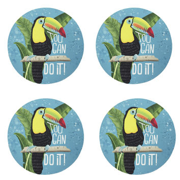 Toucan Do it Coaster set