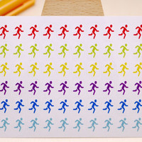 PLANNER STICKER || jogger || small rainbow colored | for your planners and bullet journals