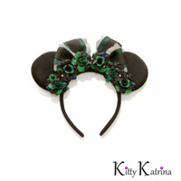 Haunted Mansion Maid Disney Ears Headband, Mouse Ears, Haunted Mansion Ears, Disney Halloween Ears, Minnie Halloween Ears, Disney Bound