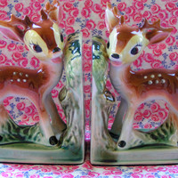 Vintage Deer Bookends
