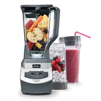 Ninja BL660 Professional Blender With Single-Serve Cups (Grey)