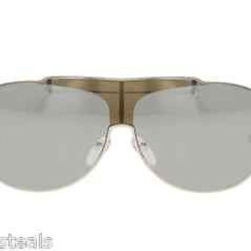 NEW AUTHENTIC VALENTINO 5751/S COL PKPSS SILVER AVIATOR METAL SUNGLASSES VA5751