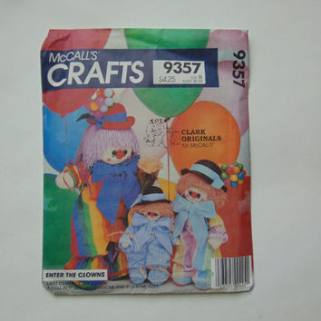McCall's Craft Sewing Pattern 9357 Enter The Clowns