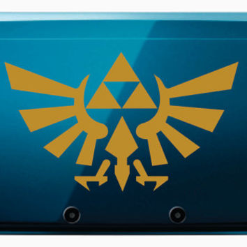 The Legend of Zelda Triforce Nintendo 3DS XL Vinyl Decal  FREE SHIPPING