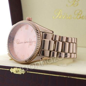 DCCKH7E Iced Out 14K Rose Gold Watch G54