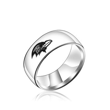 New Design Baltimore Raven Logo Ring Titanium Steel for men Anniversary Jewelry Ring