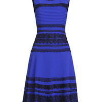 'The Elois' Black and Blue A-Line Dress
