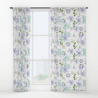 purple spring flowers Window Curtains by sylviacookphotography