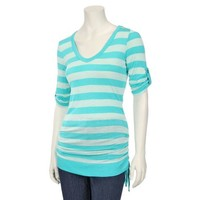 French Laundry Womens Elbow Sleeve Side Shirred Top: Shopko