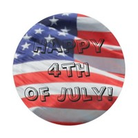Happy 4th of July, American Flag Plate, Fourth USA 7 Inch Paper Plate