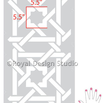 Wall Ceiling Floor Stencil Camel Bone Weave Resuable Stencil for Easy Decor