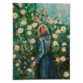 "Grace B. Keogh ""Woman with Roses"" Large Painting"