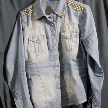 Studded Jean Jacket/Shirt