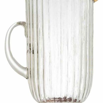 Textured glass jug