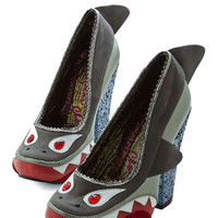 Irregular Choice Quirky Shark! Who Goes There? Heel