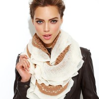 Betsey Johnson Scarf, Two Tone Ruffle Infinity Loop - Handbags & Accessories - Macy's