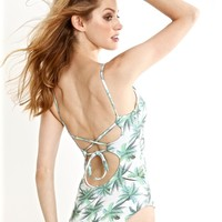 Peixoto Palm Print One Piece Swimsuit