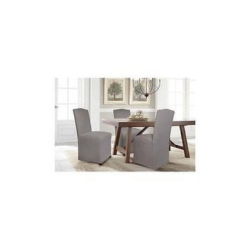 Serta Reversible Microsuede Stretch Fit Slipcover, Dining/Parsons Chair 1-Piece