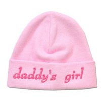 Itty Bitty Baby Pink Daddy's Girl Cap- Preemie (2-5lbs)