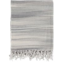 Watercolor Gray Cotton Throw