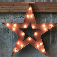 STAR MARQUEE SIGN - VINTAGE METAL STYLE