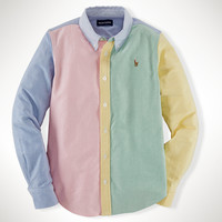 COLOR-BLOCKED OXFORD SHIRT