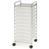 "Chrome 10 Drawer Rolling Scrapbook Cart Storage 12""x12"" Paper Organizer Supplies on eBay!"