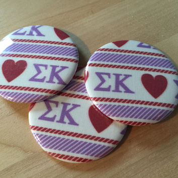 Sigma Kappa Fabric Pocket Mirrors, Magnets and Bottle Opener Keyrings