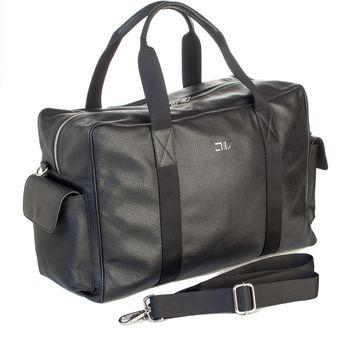Marco Polo-Leather Weekender Duffel Bag