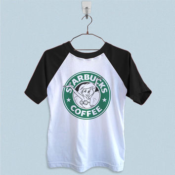 Raglan T-Shirt - Ariel The Little Mermaid Starbucks Logo