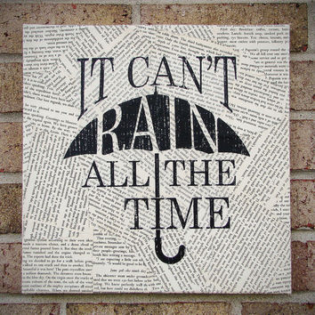 "Quote on Canvas: ""It Can't Rain All The Time"" The Crow - Canvas Art / Prints on Canvas"