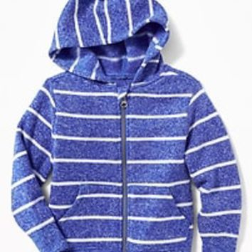 Sweater-Knit Fleece Hoodie for Toddler Boys|old-navy