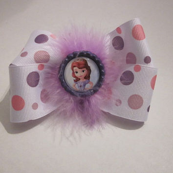 Sophia The 1st Princess Boutique Hairbow By Sweetpeas Bows & More