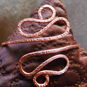 Textured Hammered Jewelry - Egyptian Goddess Copper Upper Arm Cuff, Hammered Armband, Armlet - Comes in Silver or Gold Too