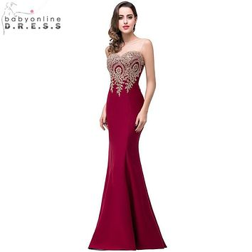 d94784d9ee7 Sexy Backless Appliques Burgundy Mermaid Lace Long Prom Dresses