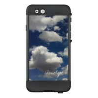 Blue Sky Puffy Clouds and Signature Style Name LifeProof® NÜÜD® iPhone 6 Case