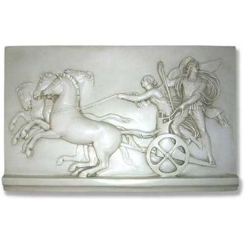 Chariot Driven By Nike Goddess of Victory Greek Wall Relief 29W