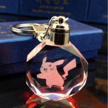 Pokemon Pikachu Pocket Monster LED Keychain