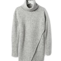Crossover Turtleneck Tunic