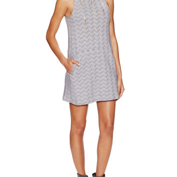 Free People Women's Chevron Duofold Twiggy Shift Dress - White -