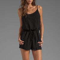 Rory Beca Crowd Draw String Cami Romper in Black from REVOLVEclothing.com
