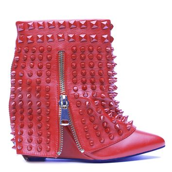 LUST FOR LIFE BATTLE WEDGE BOOTIE - RED