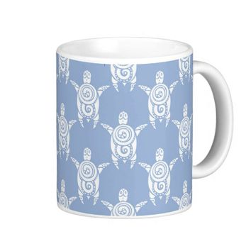 Modern Tribal Tattoo Sea Turtle Pattern Coffee Mug