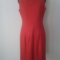 Anne Klein Red Dress Vintage 90's size 6, lined, excellent condition, sleeveless, classic cut.